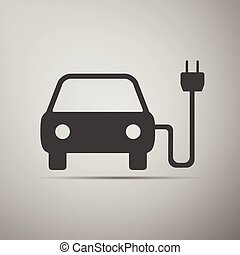 Electric powered car symbol icon.