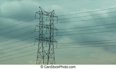Electric Pylon Clouds Time-lapse - Time-lapse storm clouds...