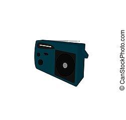 Electric radio appliance icon