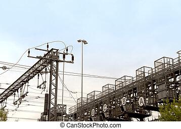 Electric Railway overhead wiring