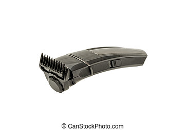 Electric razor. - Trimmer Care beard, isolated on a white...