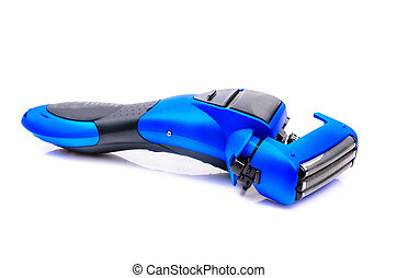Electric razor. The photo on the white background