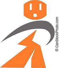 Electric Repair Logo Design Template Vector