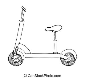 Electric scooter isolated on white background. Vector...