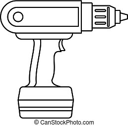 Electric screwdriver drill icon outline