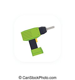 Electric screwdriver vector icon