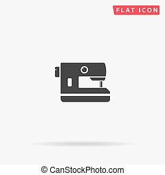 Electric Sewing Machine flat vector icon