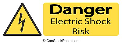 Electric Shock Long Sign