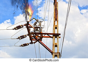 Electric Shock - Power pylon - overloaded electrical circuit...