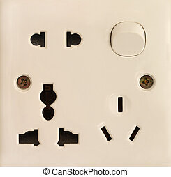 Electric socket - Close-up of electric socket