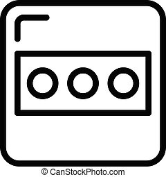 Electric socket plug icon, outline style