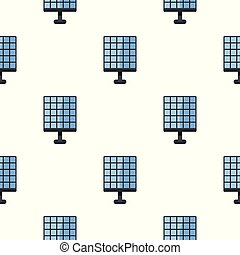 Electric solar panel pattern seamless