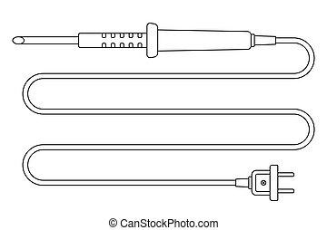 Electric soldering contour iron