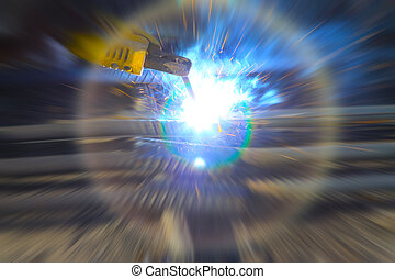 electric spark industrial creative picture