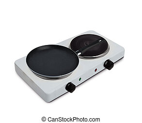 Electric stainless steel stove with pan