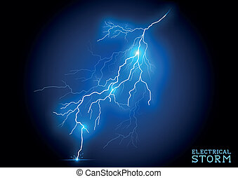 Electric Storm - vector lightning bolt.