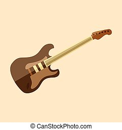 Electric Stratocaster Guitar Vector Illustration Graphic
