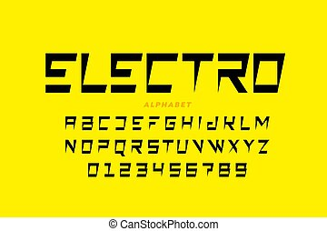 Electric style font