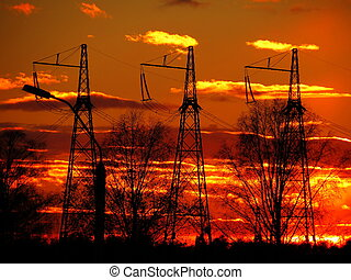 Elektropodstanciya supplies electricity remote regions siberia in winter and summer