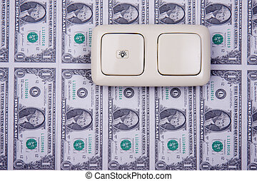 electric switch and money