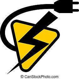 Creative design of electric symbol