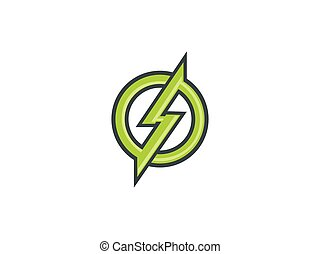 electric symbol icon vector logo