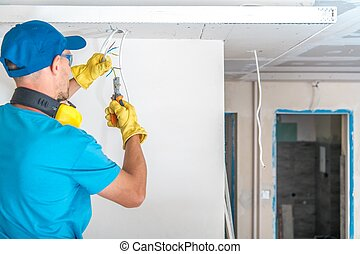 Electric Technician at Work