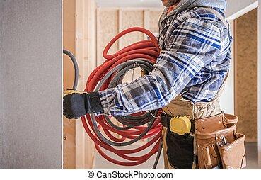 Electric Technician Worker