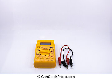 electric tester on white background Isolated graphic resource for electrician, electromechanic, sale of DIY tools, or tool for electricity