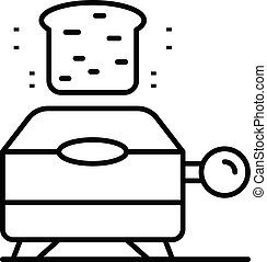 Electric toaster icon, outline style
