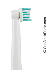 Electric toothbrush isolated on white. Close-up - Electric...
