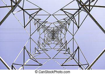 Electric tower metal