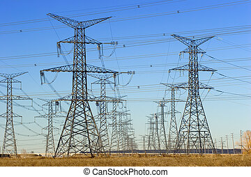 Electric towers - Field of electric towers