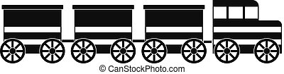 Electric train icon, simple style.