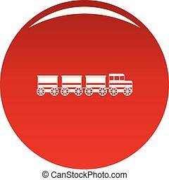 Electric train icon vector red