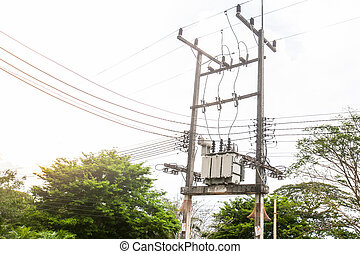 Electric transformer substation