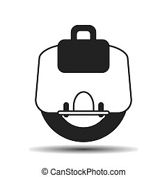 electric unicycle icon - electric unicycle flat vector icon...