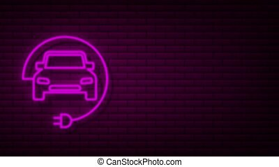 Electric vehicle charging station icon. Ev charge. Electric car. Motion graphics