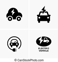 Electric vehicle symbols
