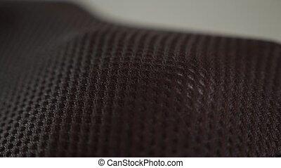 electric vibro massage pillow for neck, selective focus