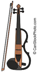 Hand drawing of an electric violin