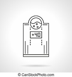 Electric water heater flat line vector icon