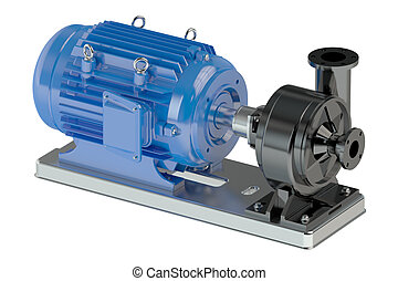 Electric water pump isolated on white background
