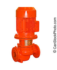 Electric water pump on a white background