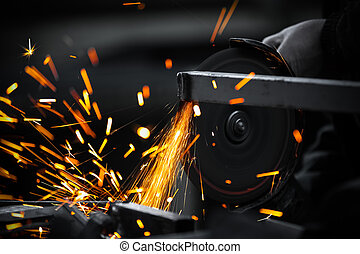 Electric wheel grinding