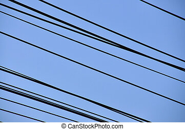 electric wire and sky background