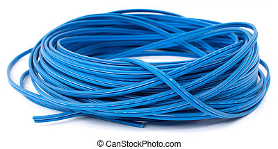 electric wire on a white background