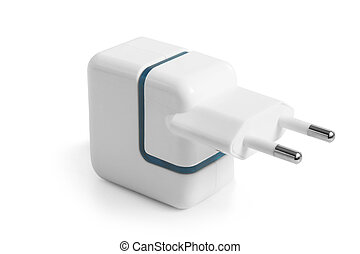 Electrical adapter on a white background