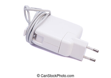 Electrical adapter to USB port isolated on white background