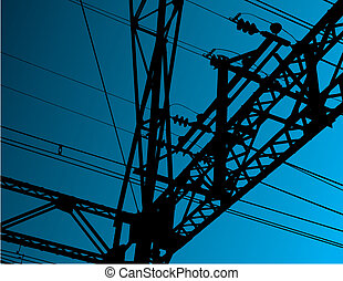 Electrical background - Electrical equipment vector...